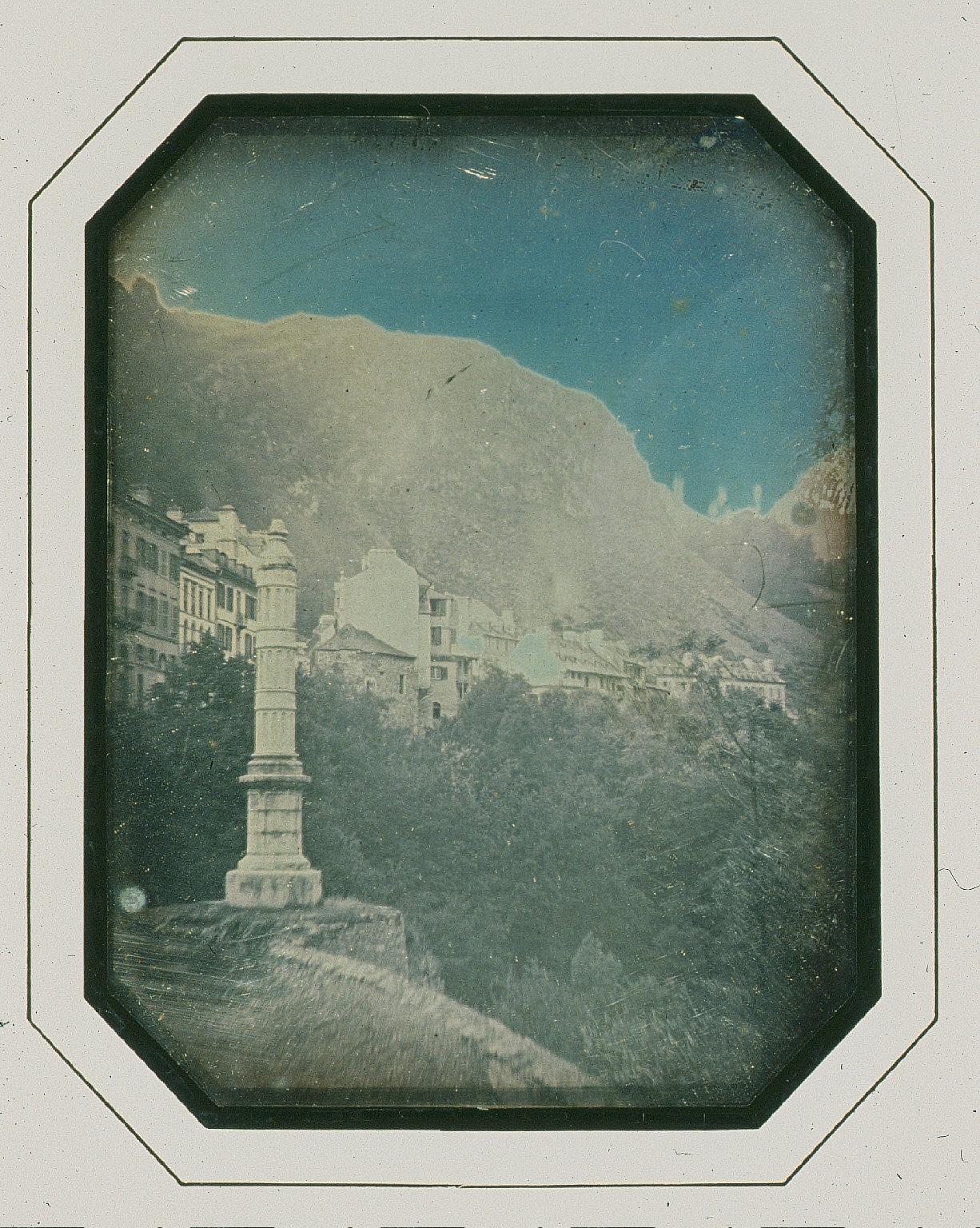 Landscape with monument