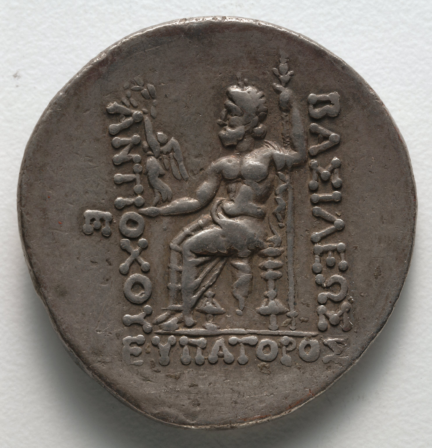 Tetradrachm: Zeus (reverse)