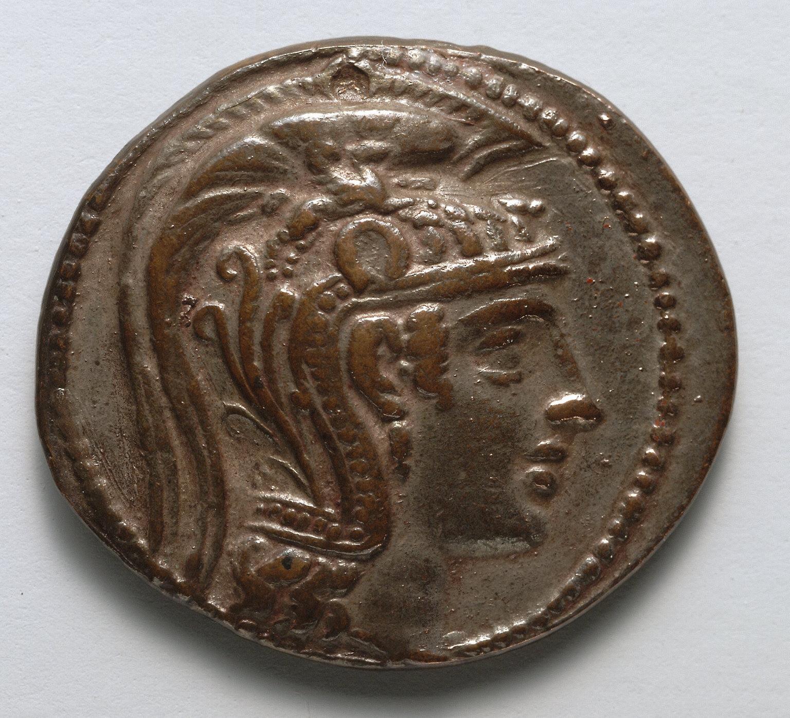 Tetradrachm: Head of Athena Parthenos (obverse)