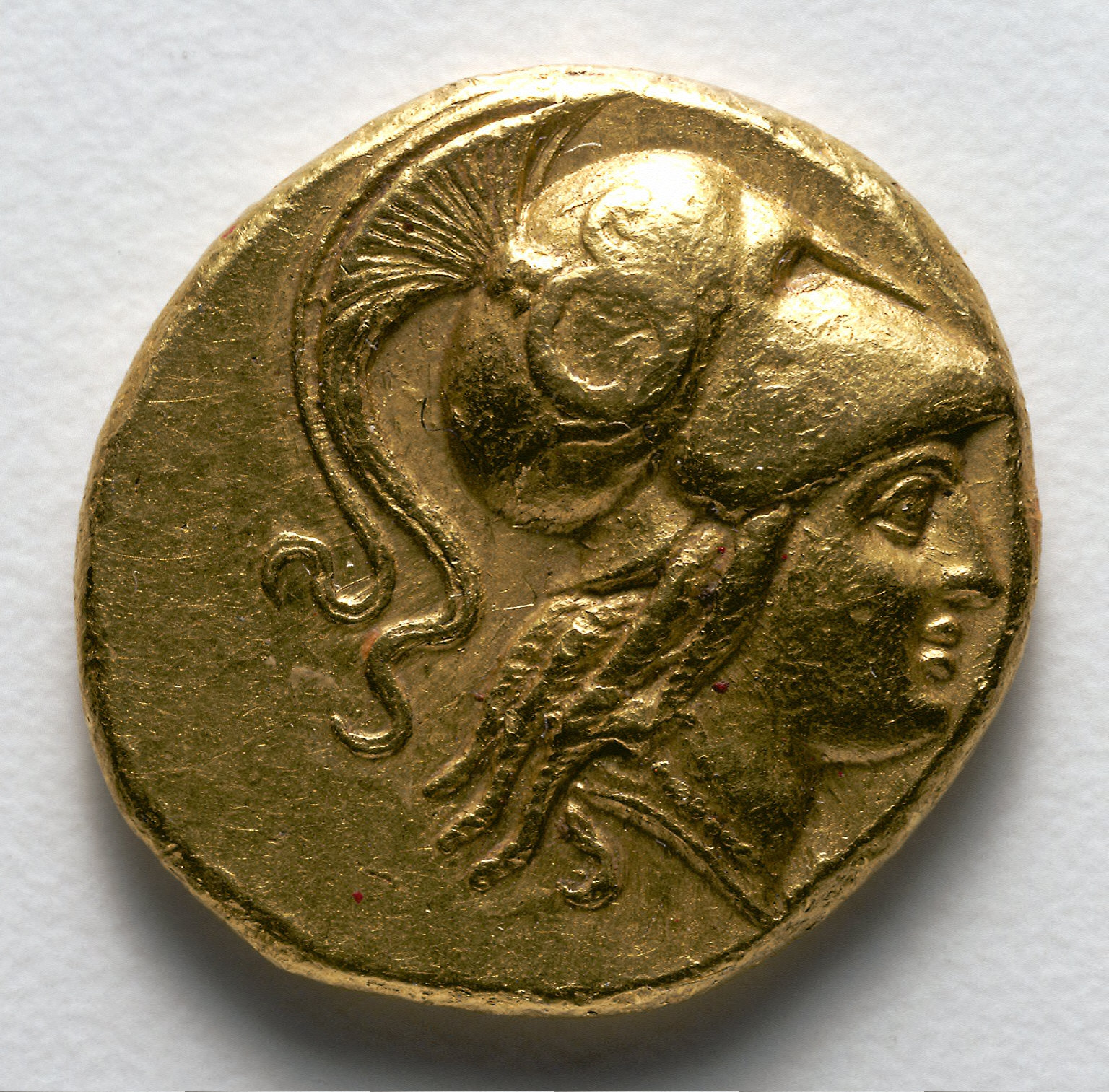 Stater: Head of Athena (obverse)