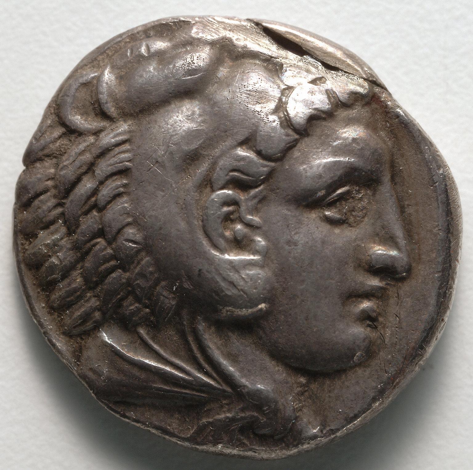 Tetradrachm: Head of Young Herakles in Lion Skin (obverse)