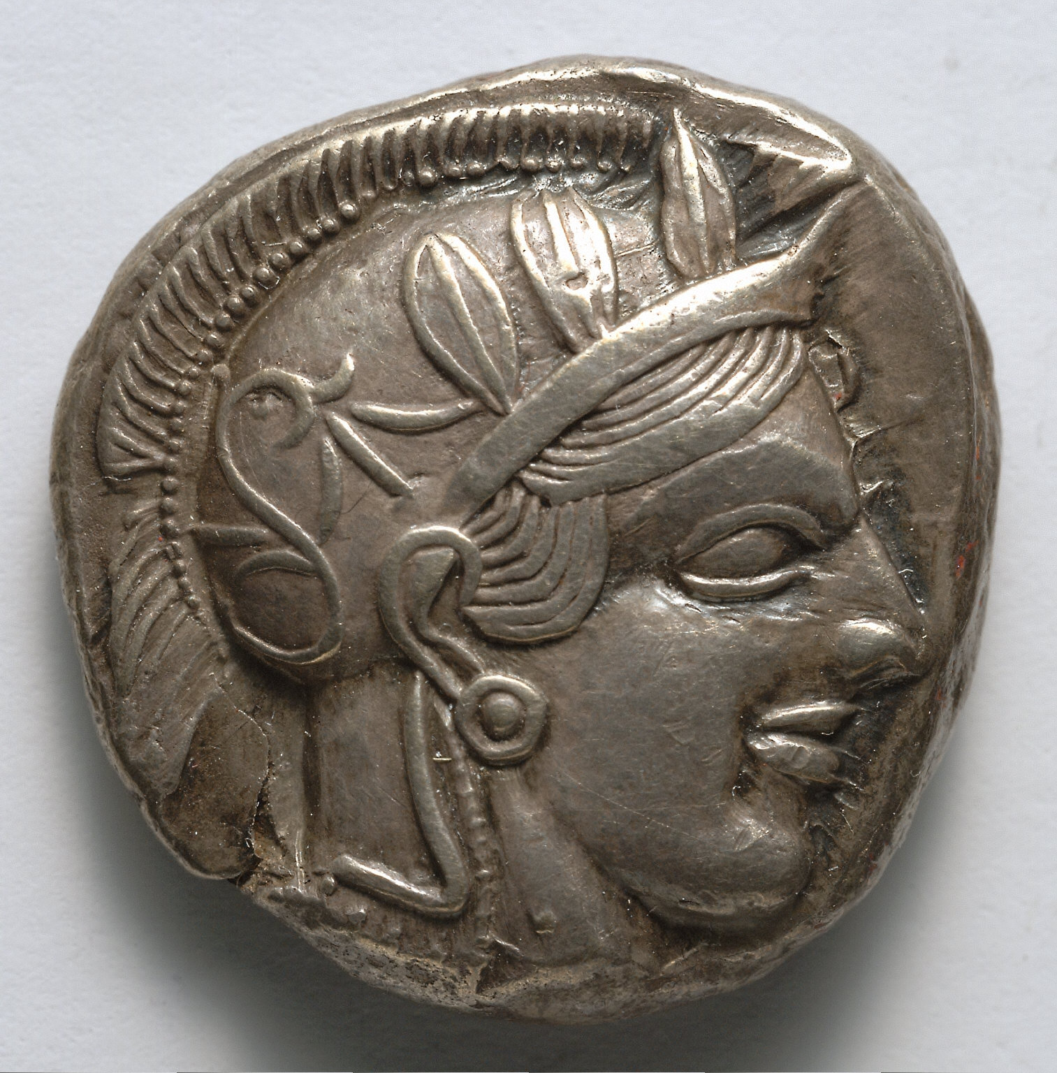 Stater: Archaic Head of Athena (obverse)