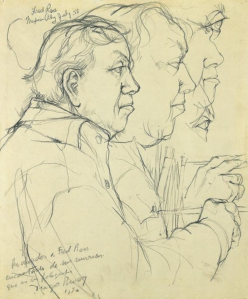 Diego Rivera Working on the Murals at the Palacio Nacional, Mexico City (I)