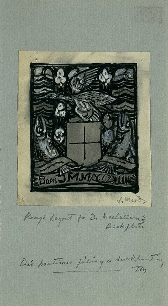 Study for the Bookplate of Dr. James M. MacCallum