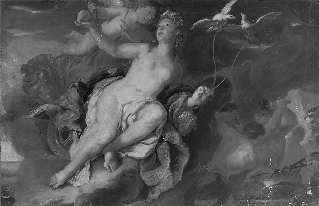 Venus and Cupid at the Forge of Vulcan