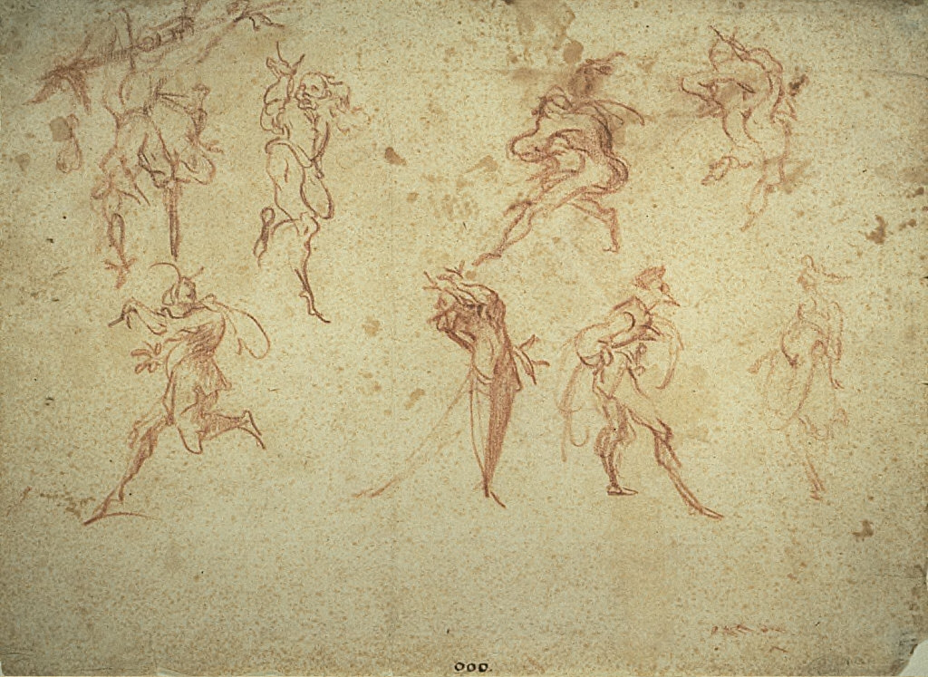 """Grotesque Dancers: Eight Studies of Characters from the """"Commedia dell'Arte"""