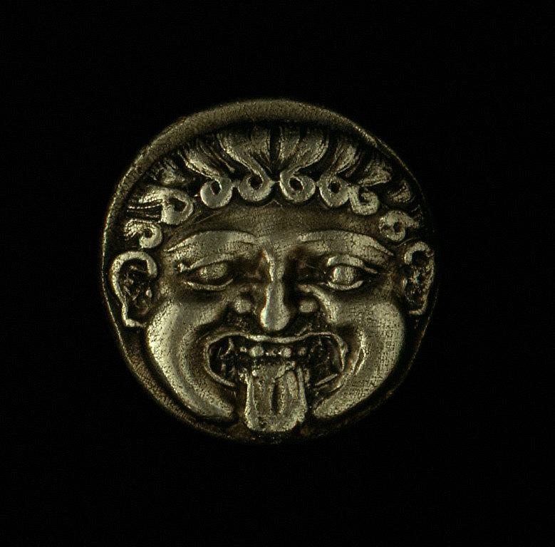 Reverse: Head of nymph Parthenos