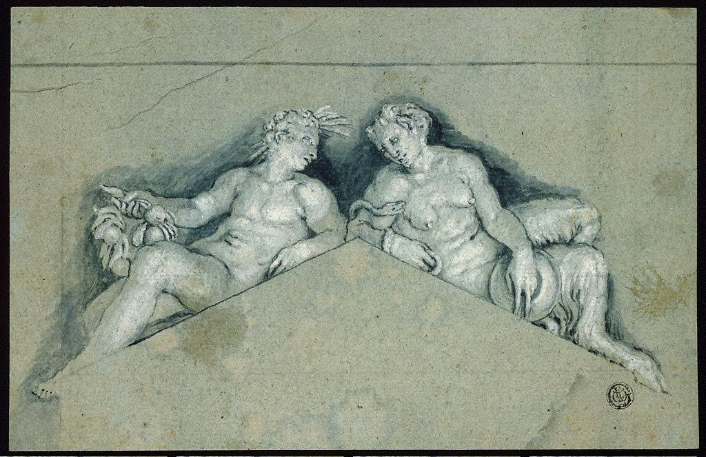 Overdoor with Allegorical Male Figure