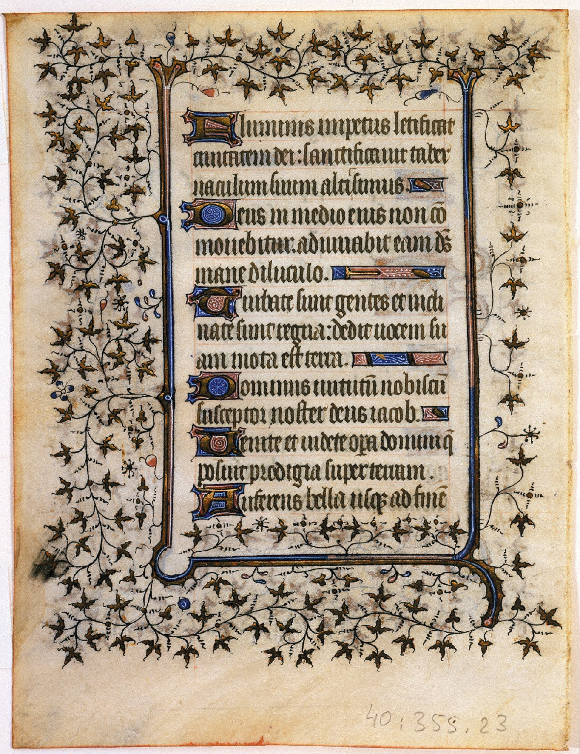 Psalter Leaf with Ivy Pattern