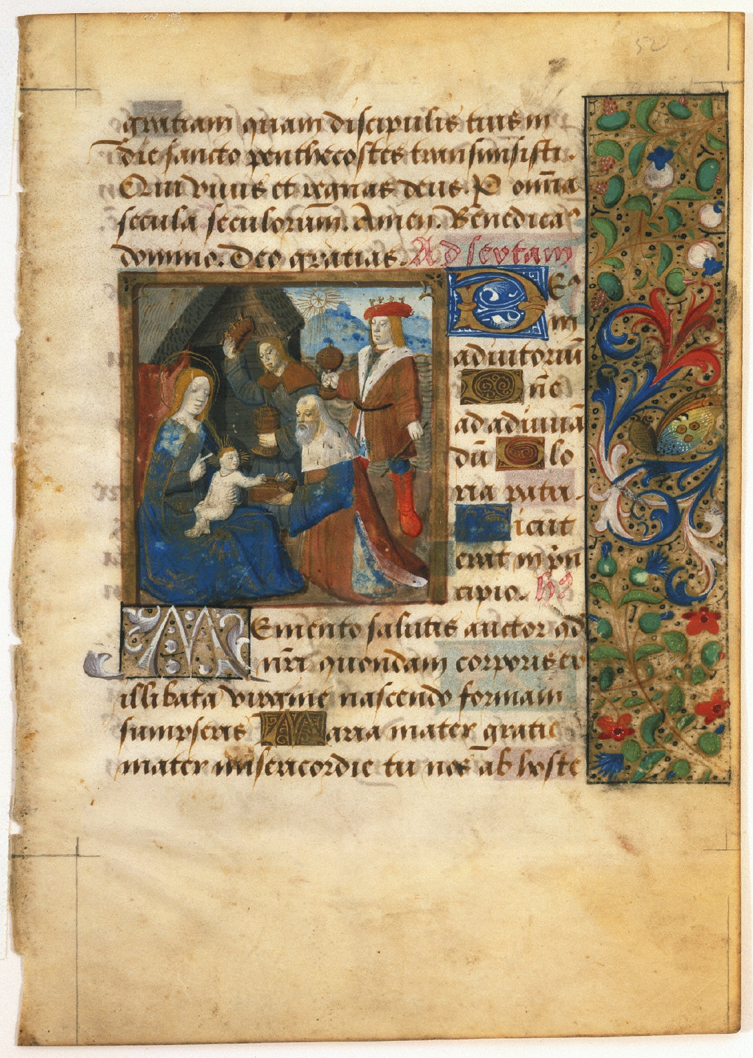 Page from a Book of Hours: Adoration of The Magi