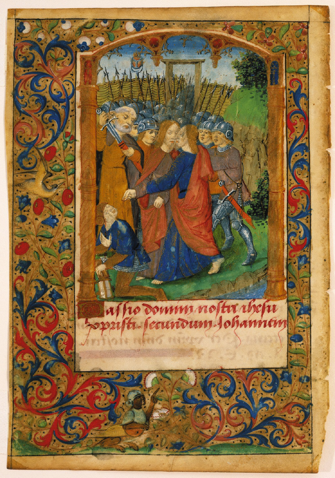 Page from a Book of Hours: Betrayal of Christ