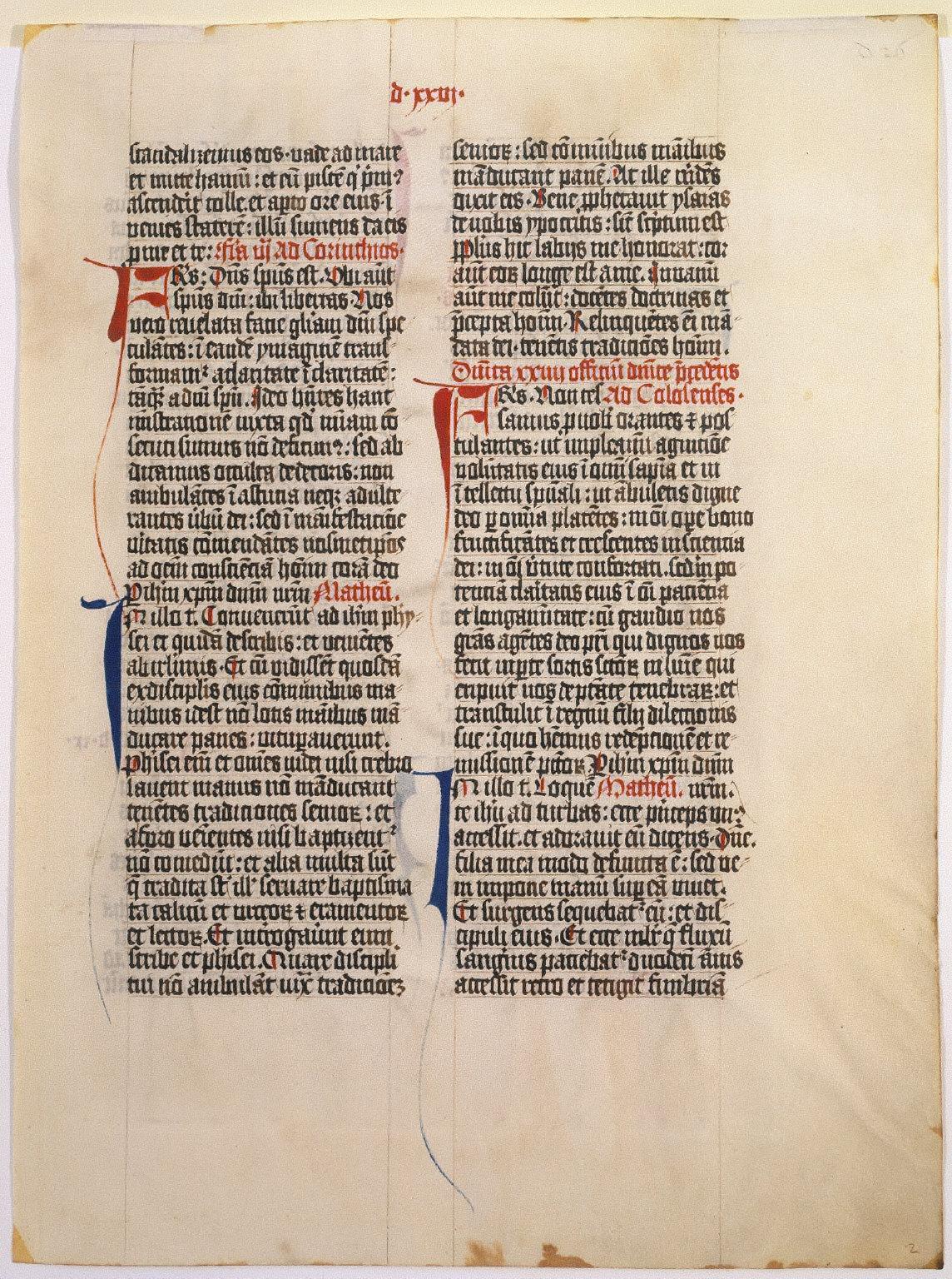 Missal Leaf