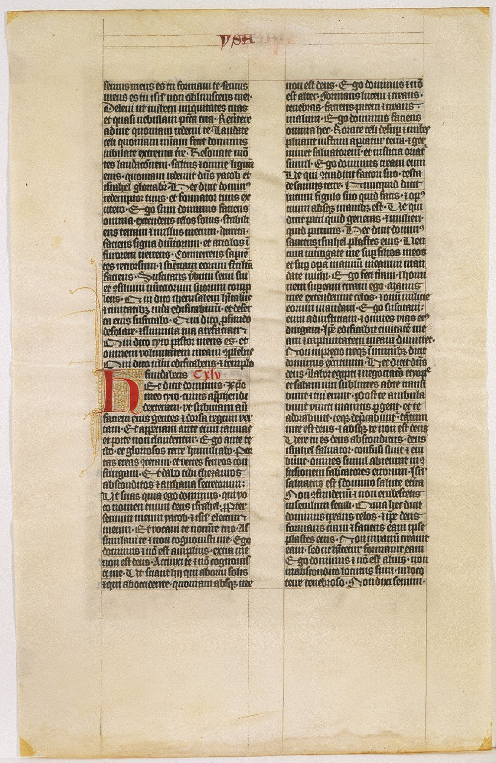 Leaf from Vulgate Bible in Latin