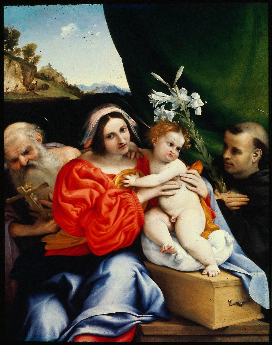 Virgin and Child with Saints Jerome and Anthony