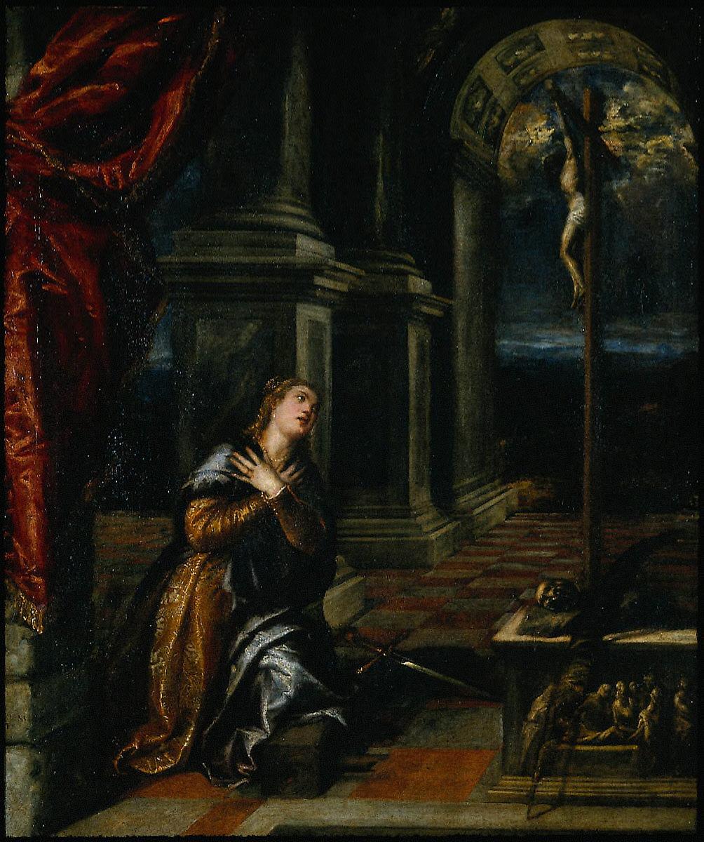 St. Catherine of Alexandria at Prayer