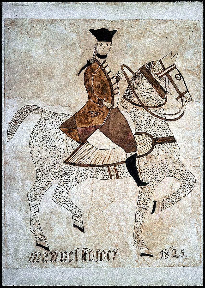 Man on Horseback ( Washington? or Lafayette?)