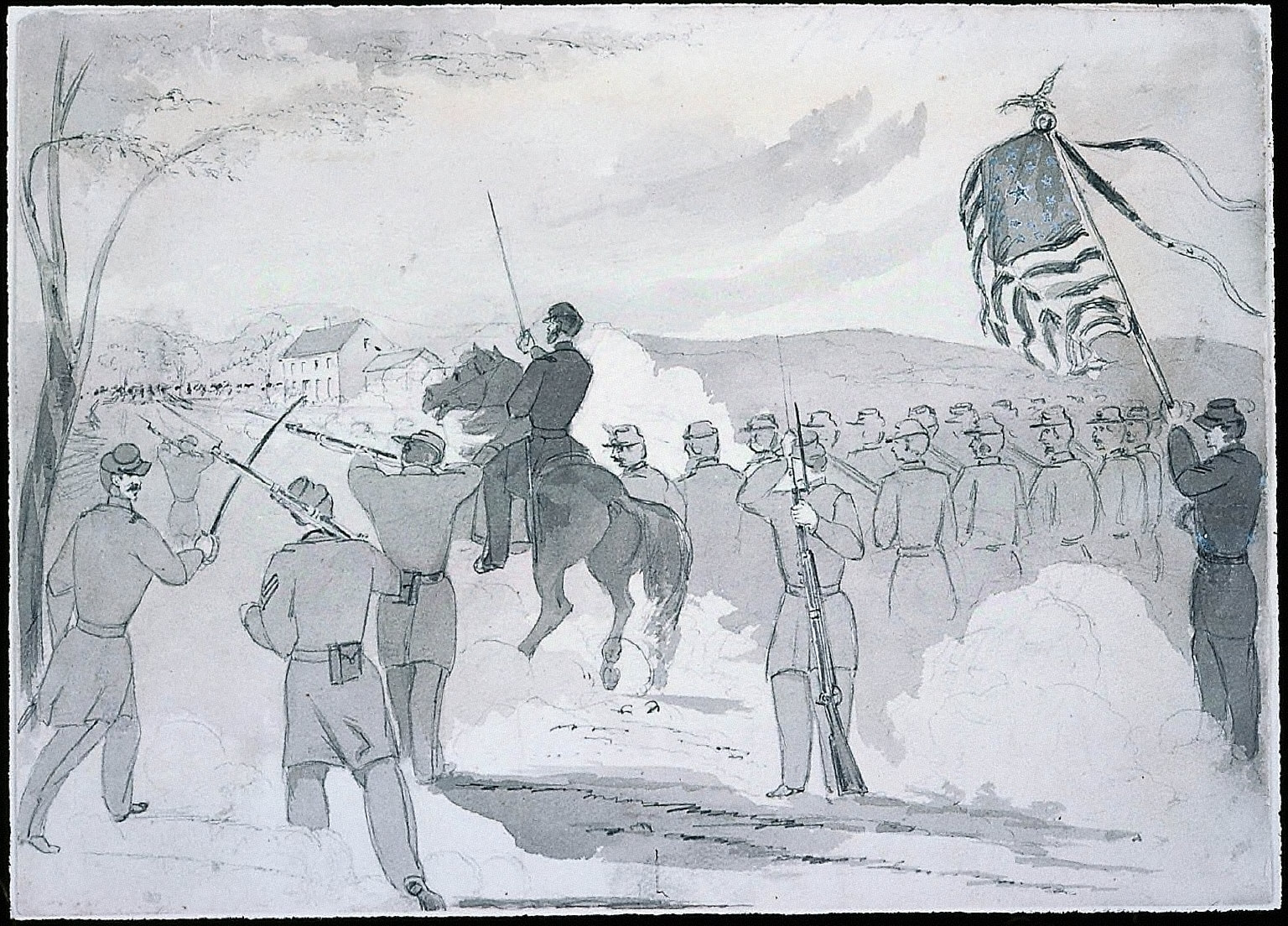 Col. Starkweather with his Wisconsin Regiment