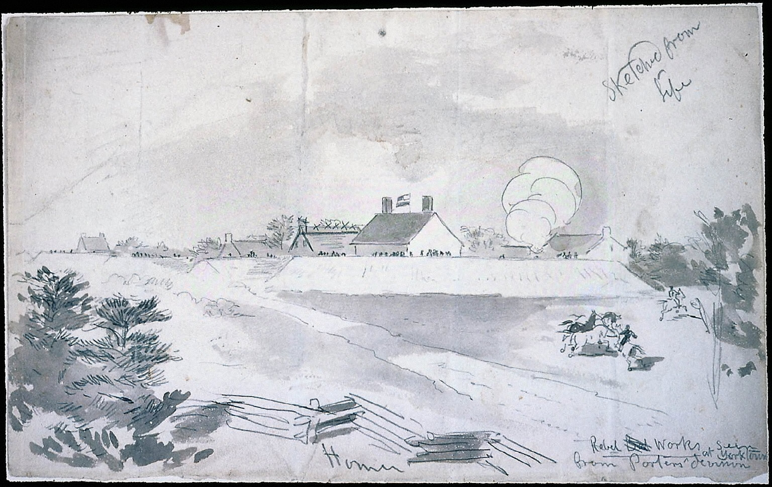 Rebel Works Seen from General Porter's Division, Yorktown