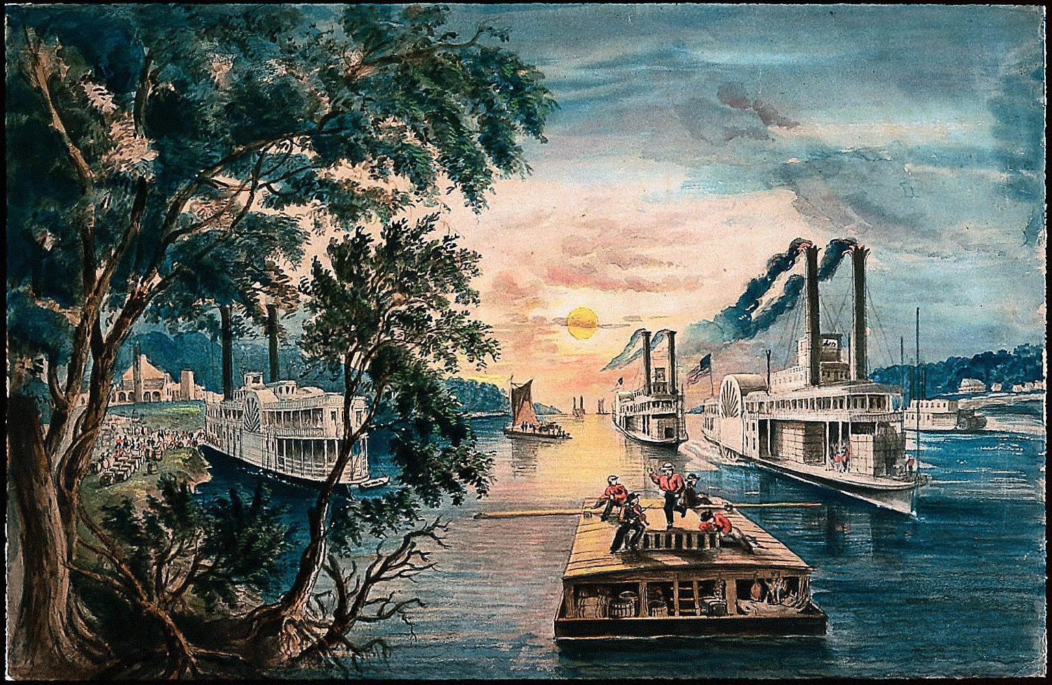 The Mississippi in time of peace