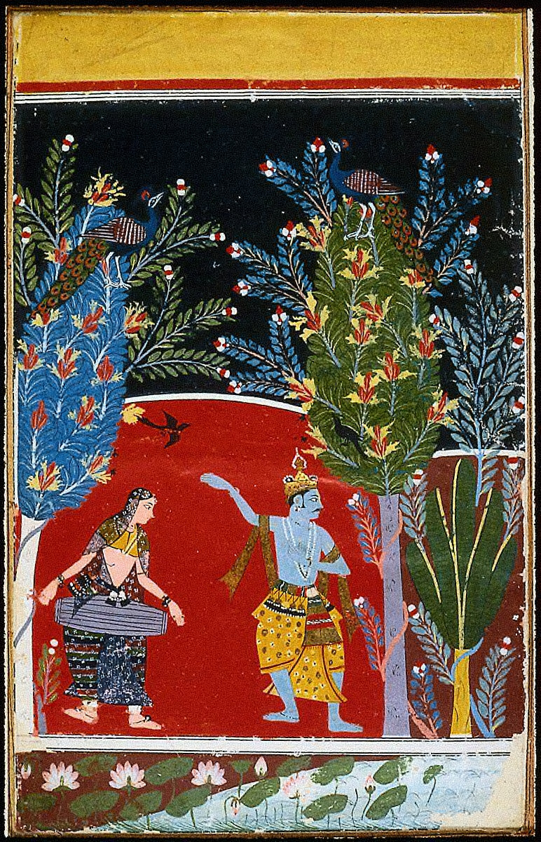 Krishna Dancing, possibly Vasanta Ragini