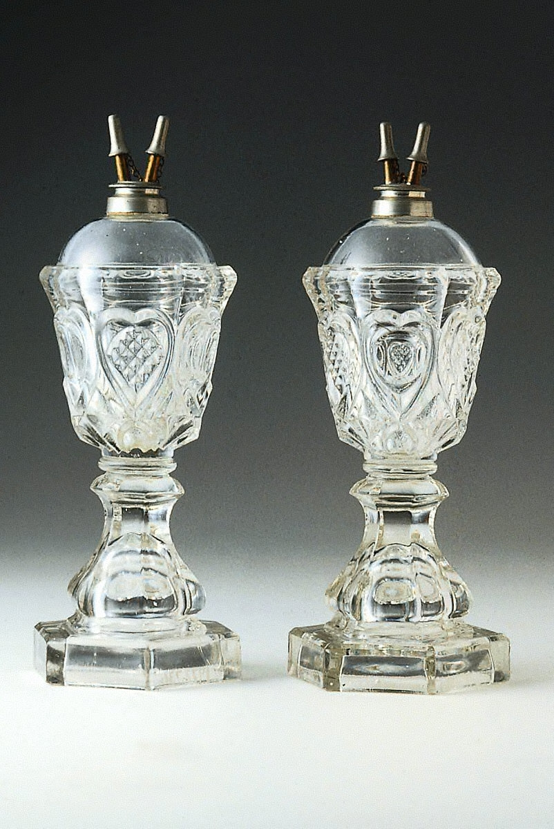 Camphene Lamp (One of a Pair)