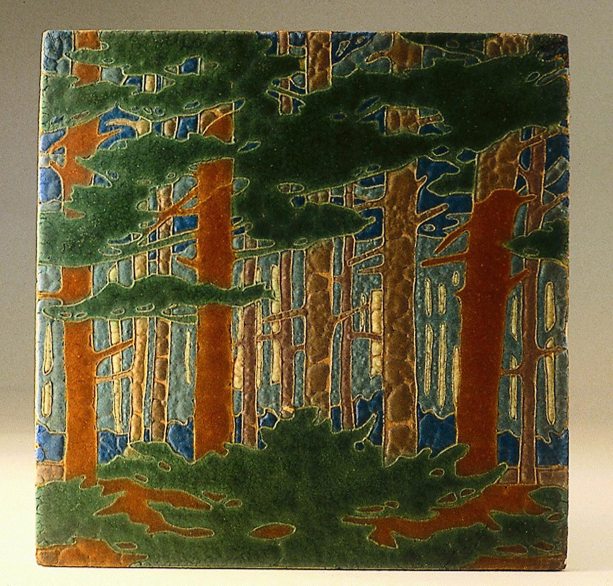 Tile (plaque depicting a forest)