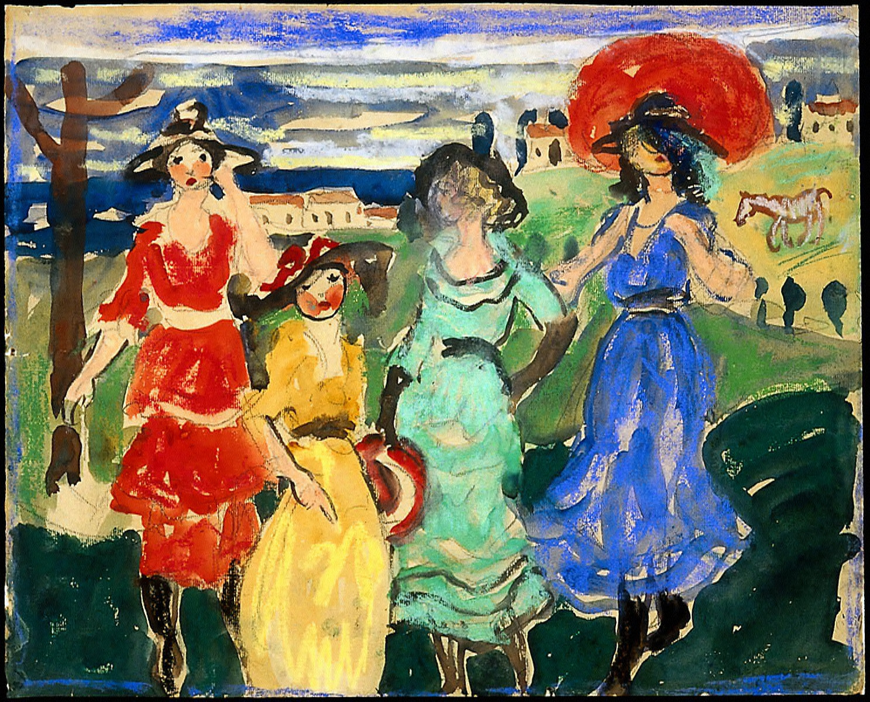 Four Girls in Meadow
