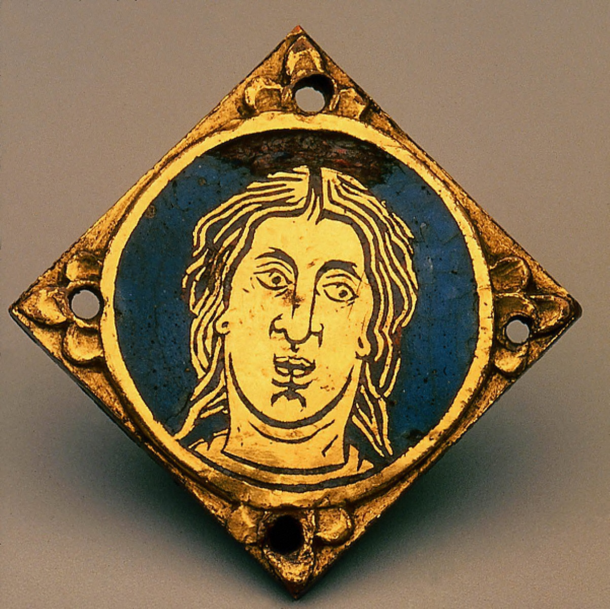 Plaque with Head in Medallion