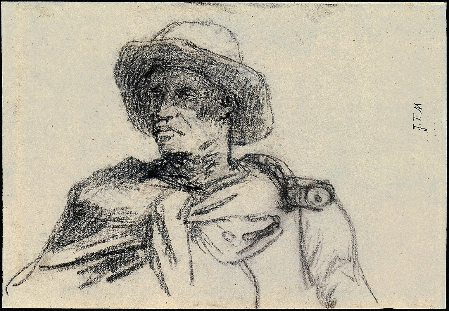 Boaz (study for Harvesters Resting)
