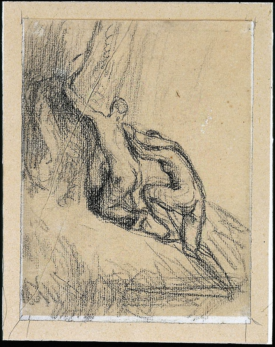 Two Bathers Climbing from a Pool