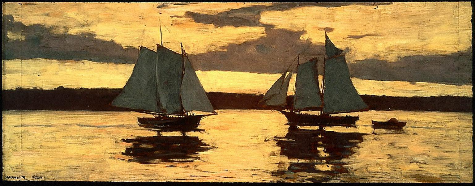 Gloucester, Mackerel Fleet at Sunset