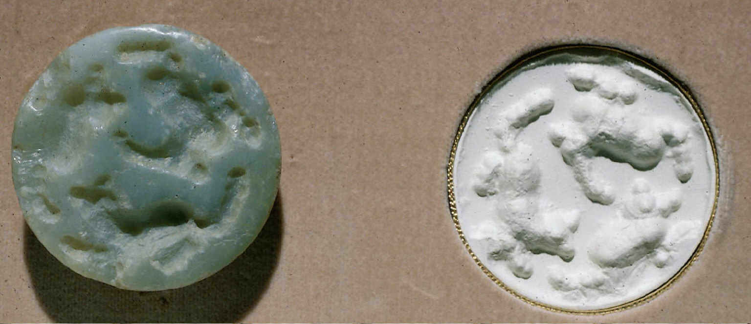 Stamp seal: Three quadrupeds, one of which is horned