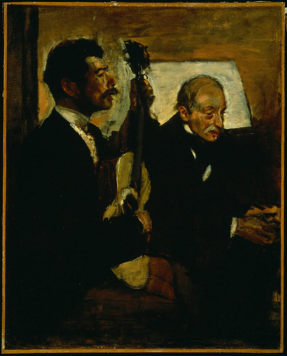 Degas's Father Listening to Lorenzo Pagans Playing the Guitar