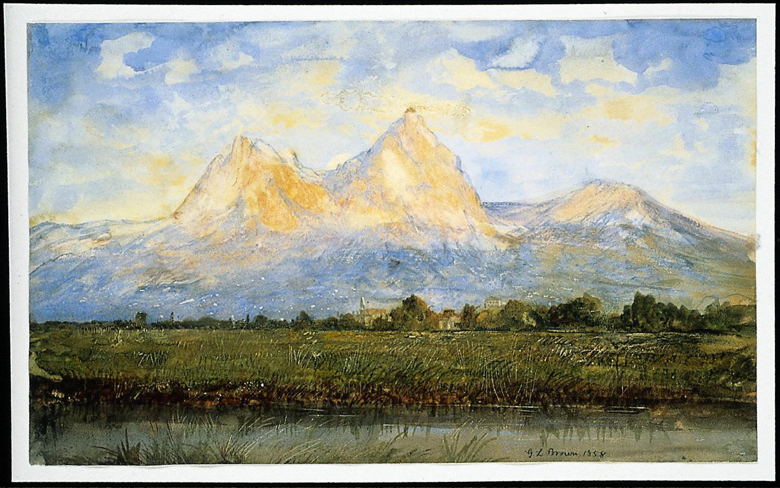 View of The Mythens near Schwyz