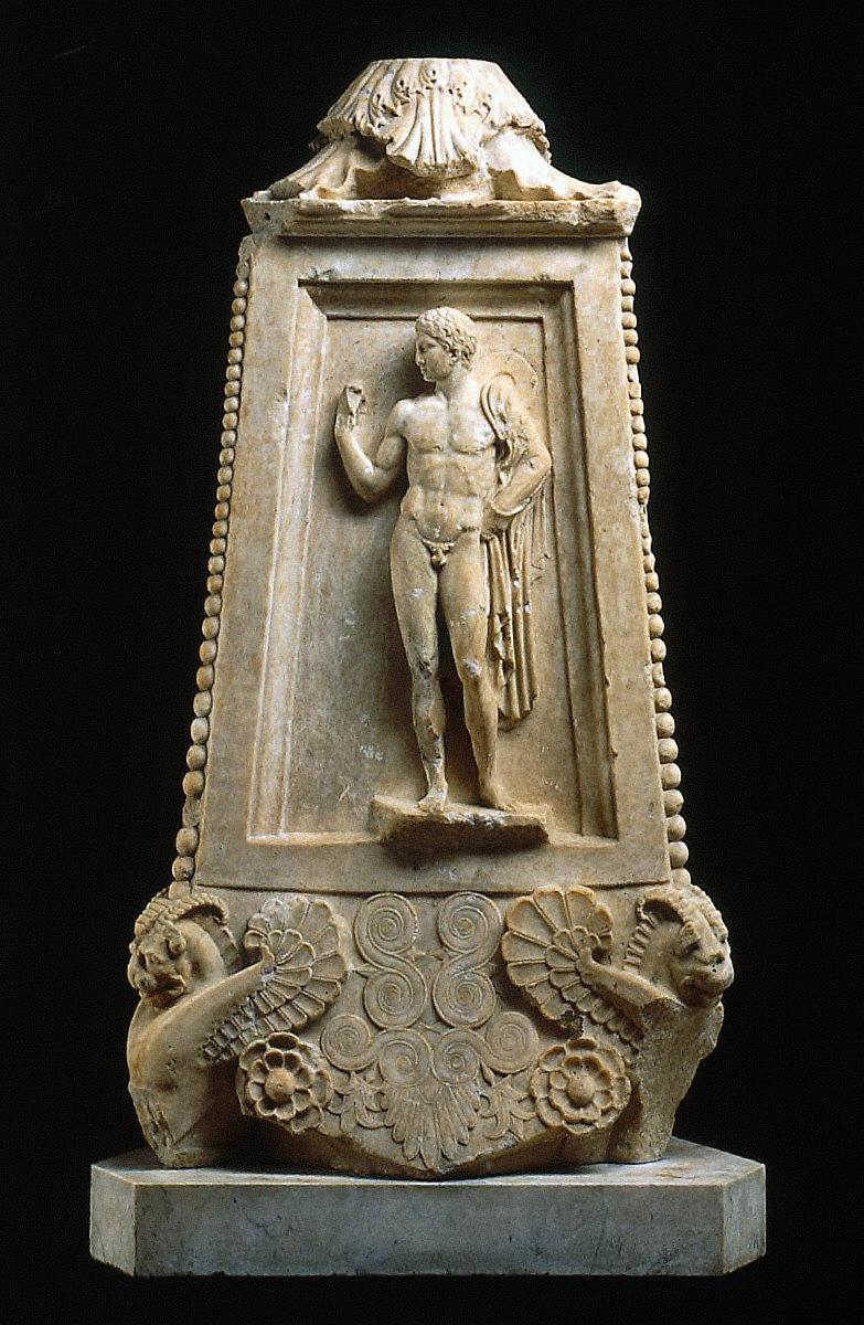 Pedestal of a candelabrum or decorative shaft