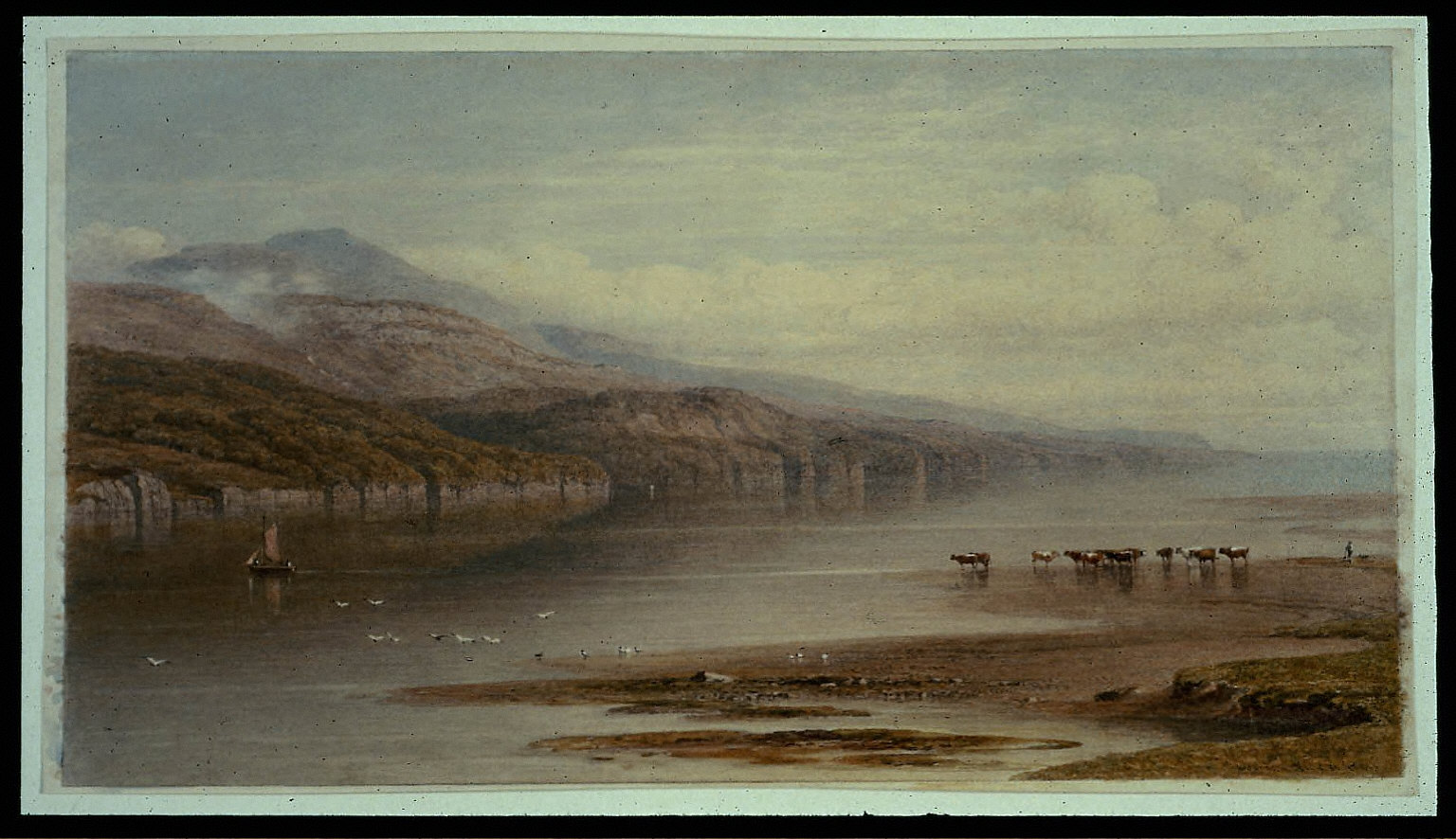 Landscape on the River Mordach, looking towards Barmouth
