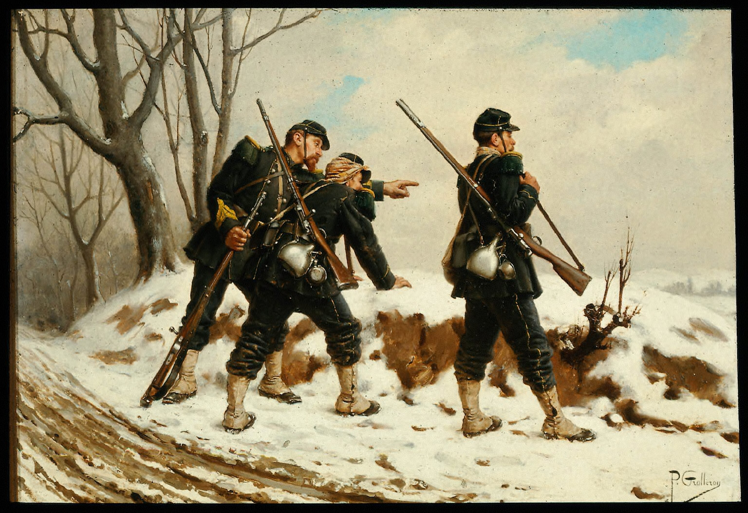 French Soldiers in the Snow