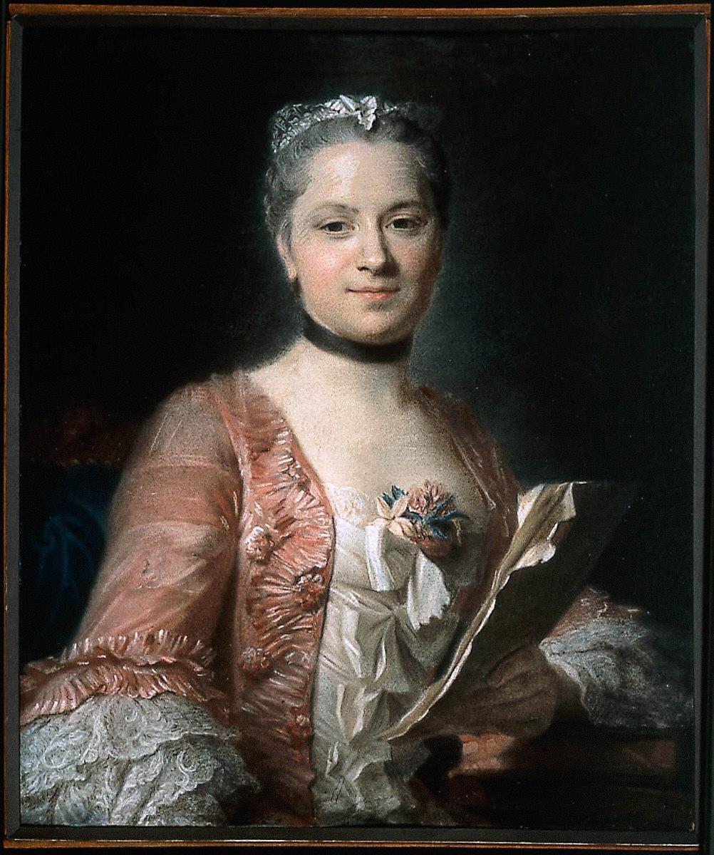 Portrait of a Woman in a Rose-Colored Gown (La Dame en Rose)