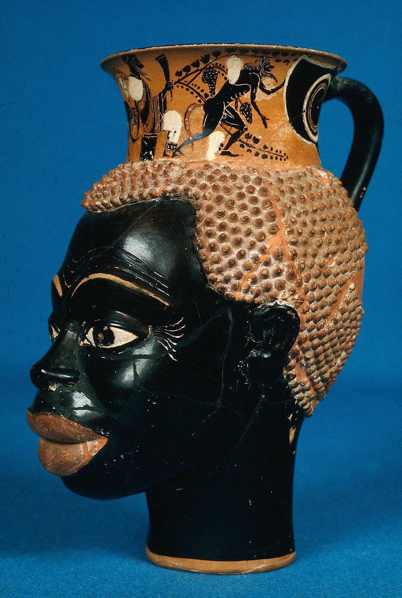 Mug in the shape of a man's head