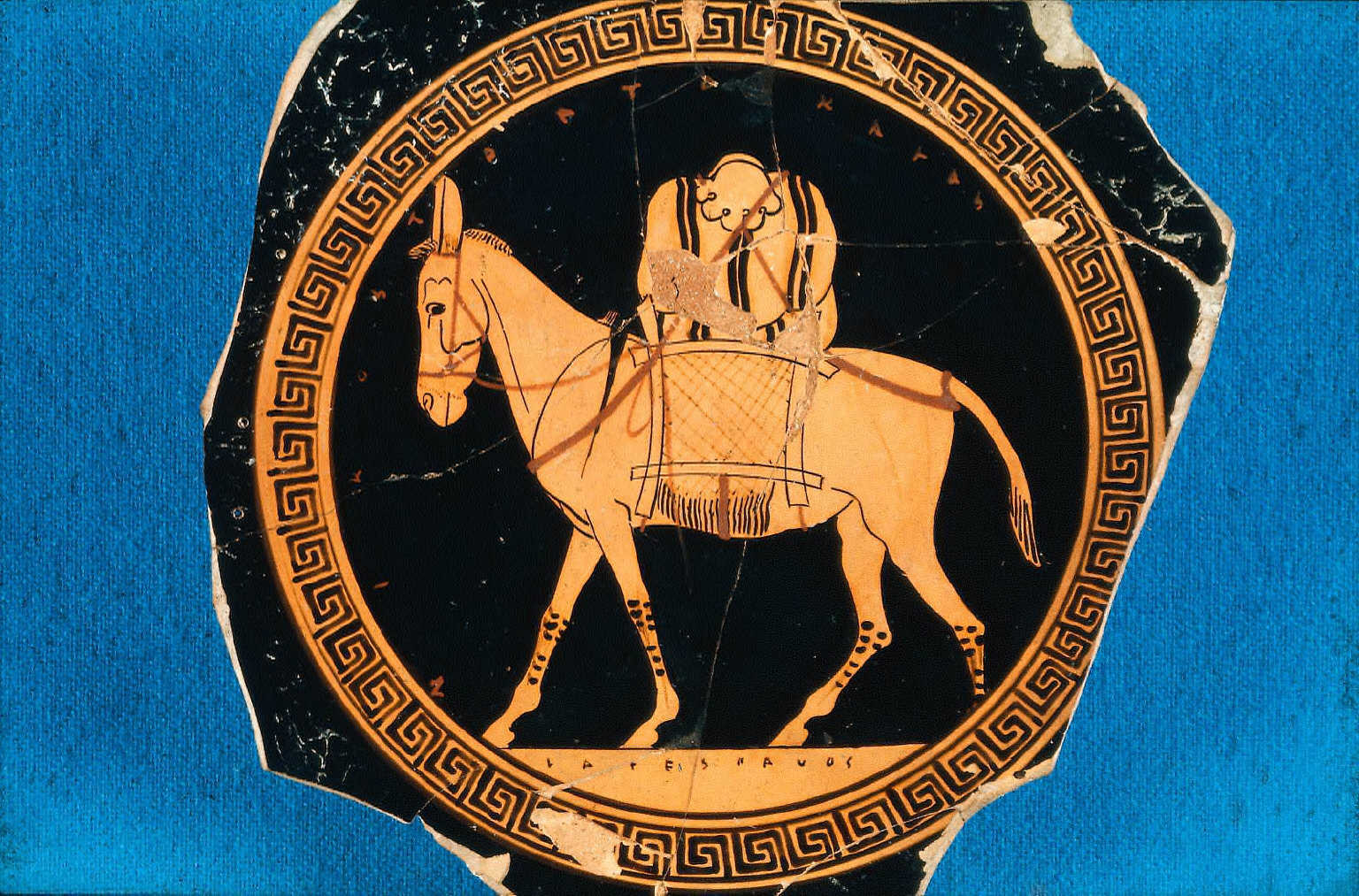 Kylix (wine cup) with she-ass
