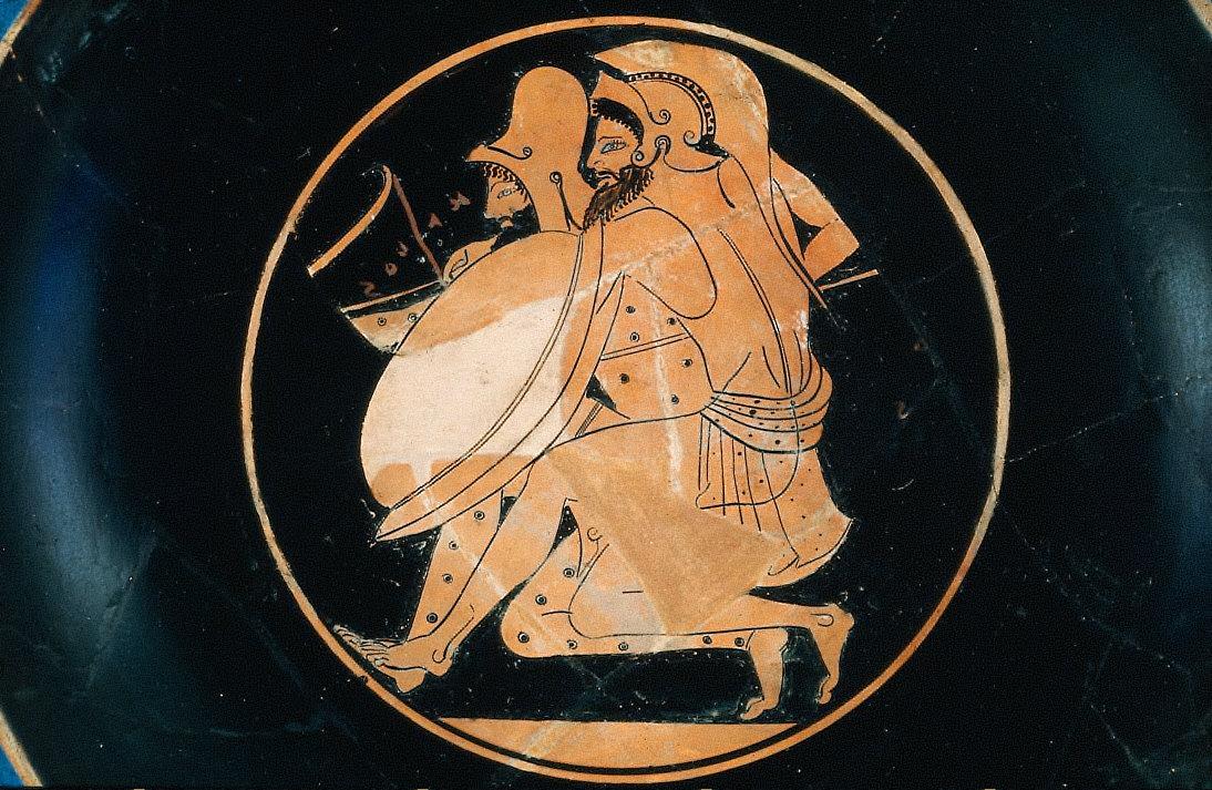 Kylix: Fragment (restored) of interior