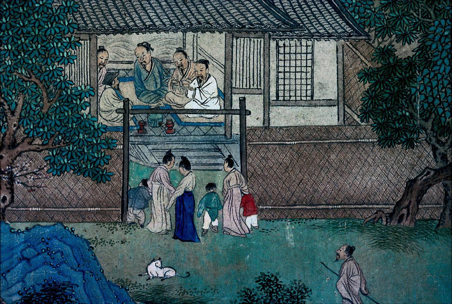 Peach Blossom Spring [Tao Hua-chien], poem by T'ao Ch'ien (365-427)