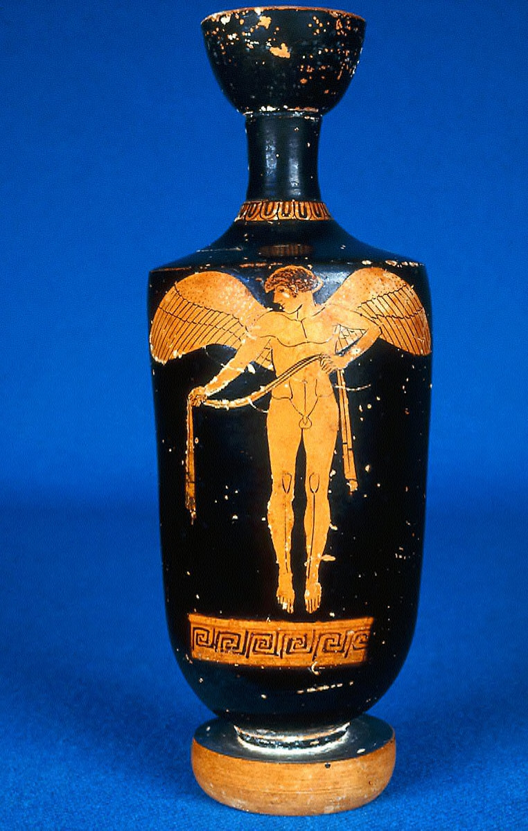 Lekythos (oil bottle) with Eros