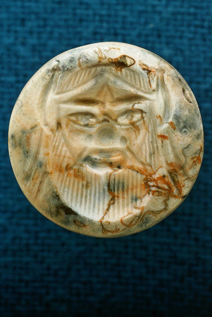 Intaglio with head of bearded silen
