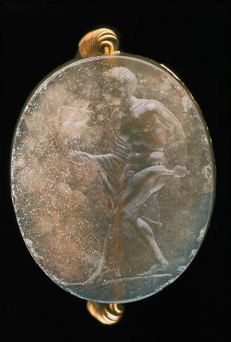 Scaraboid intaglio with Diomede and Palladion