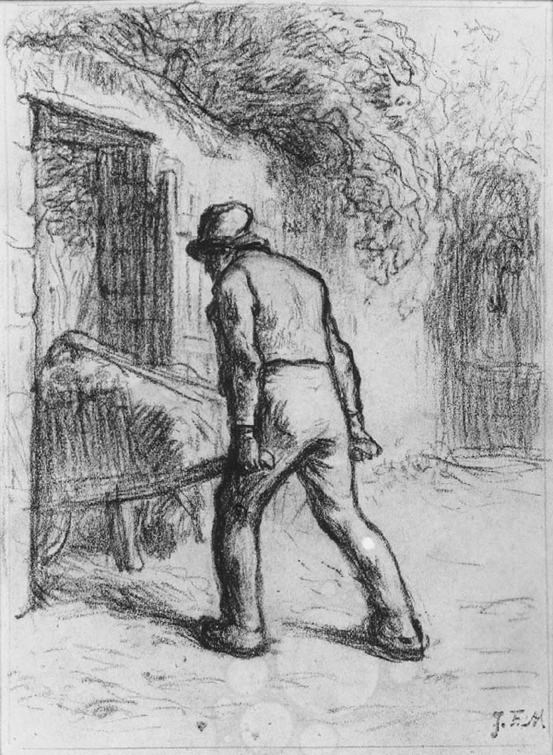 Study for Man with a Wheelbarrow