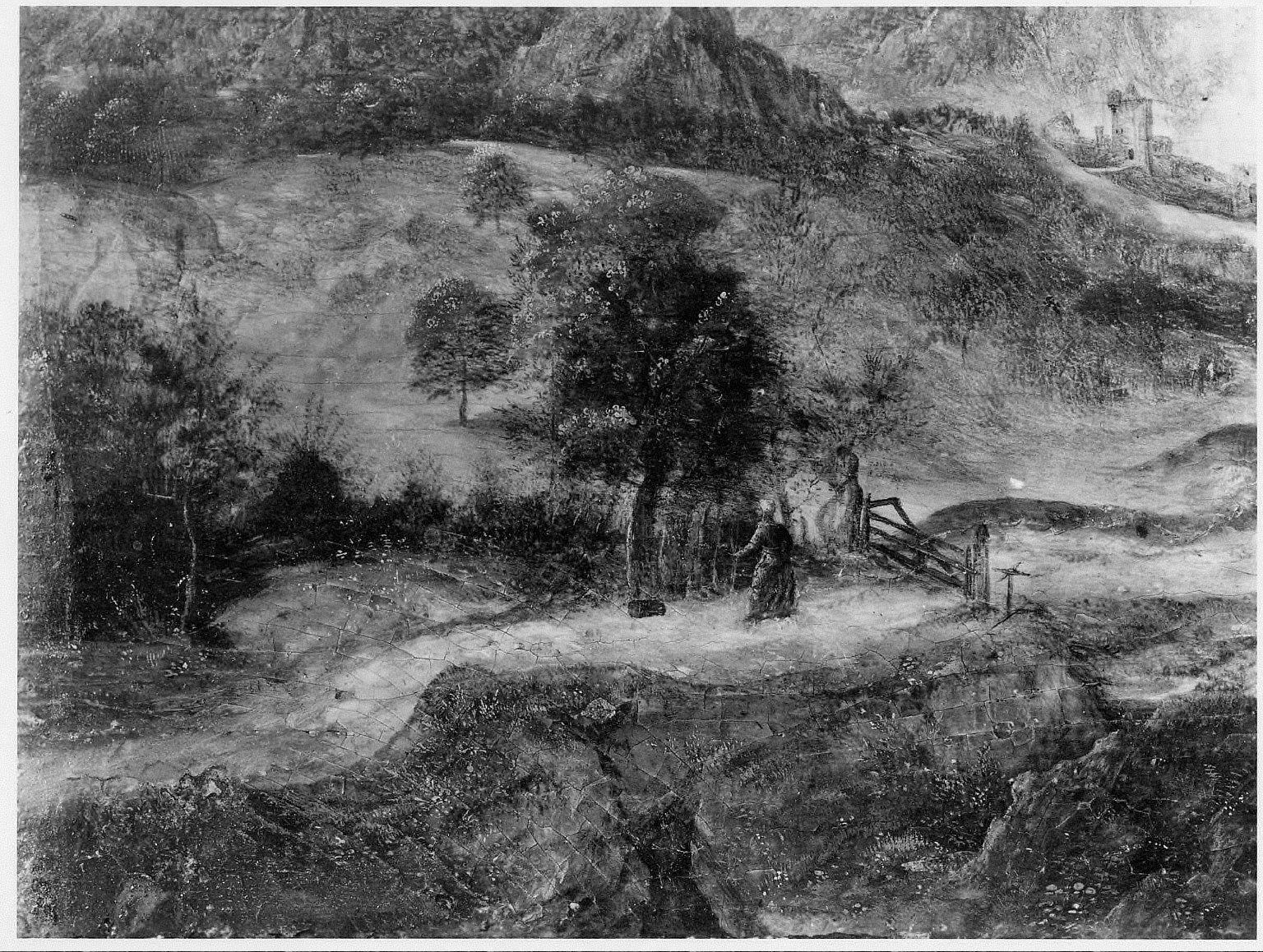 Landscape with Burning City