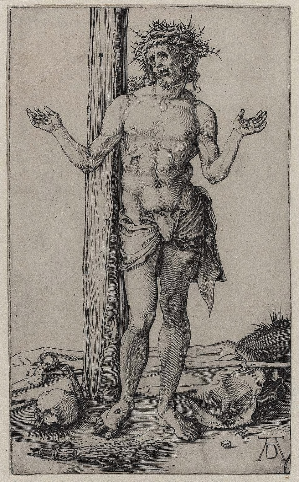 Man of Sorrows with Arms Outstretched