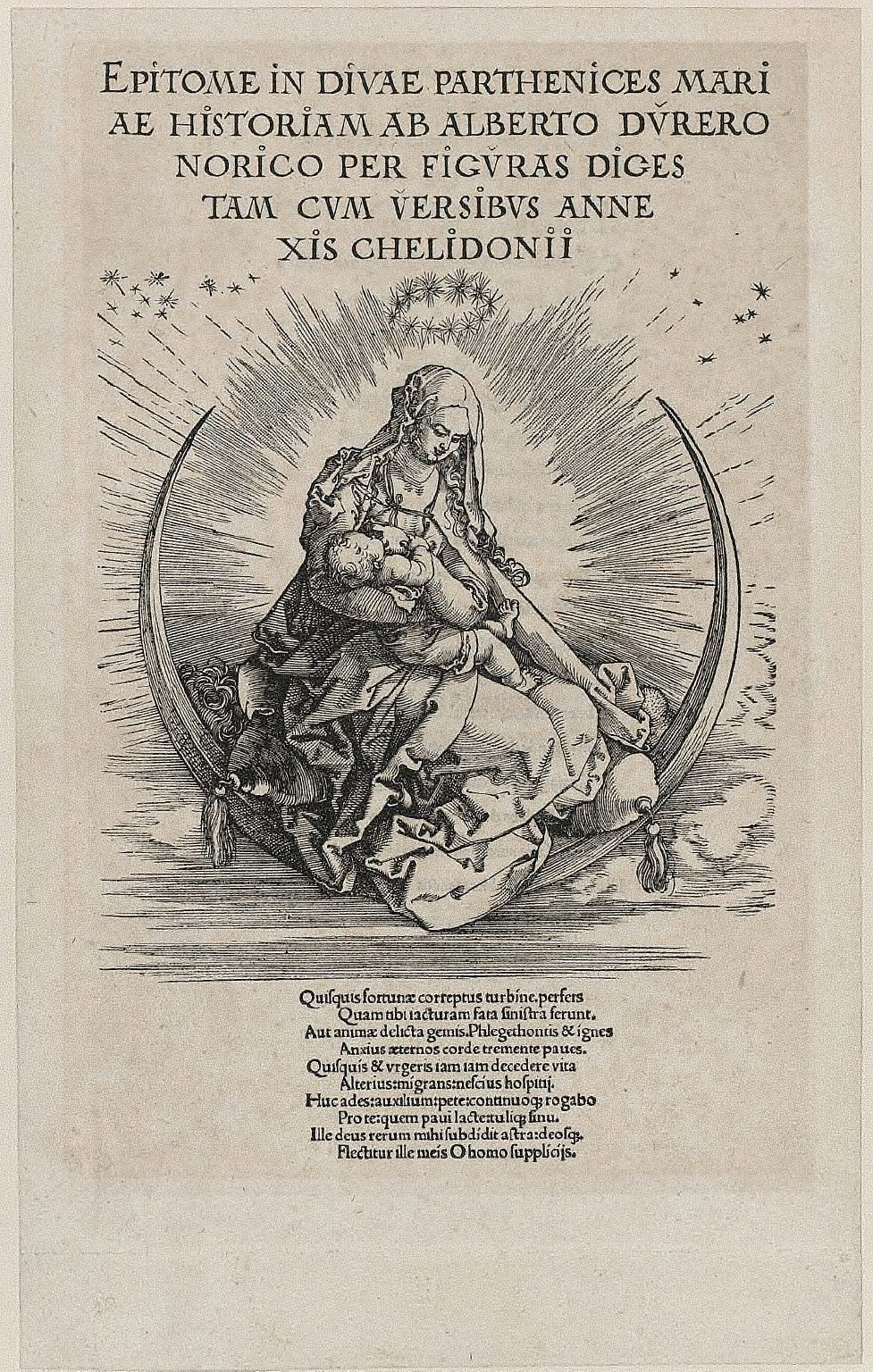 Titlepage: The Virgin on the Crescent (Life of the Virgin)