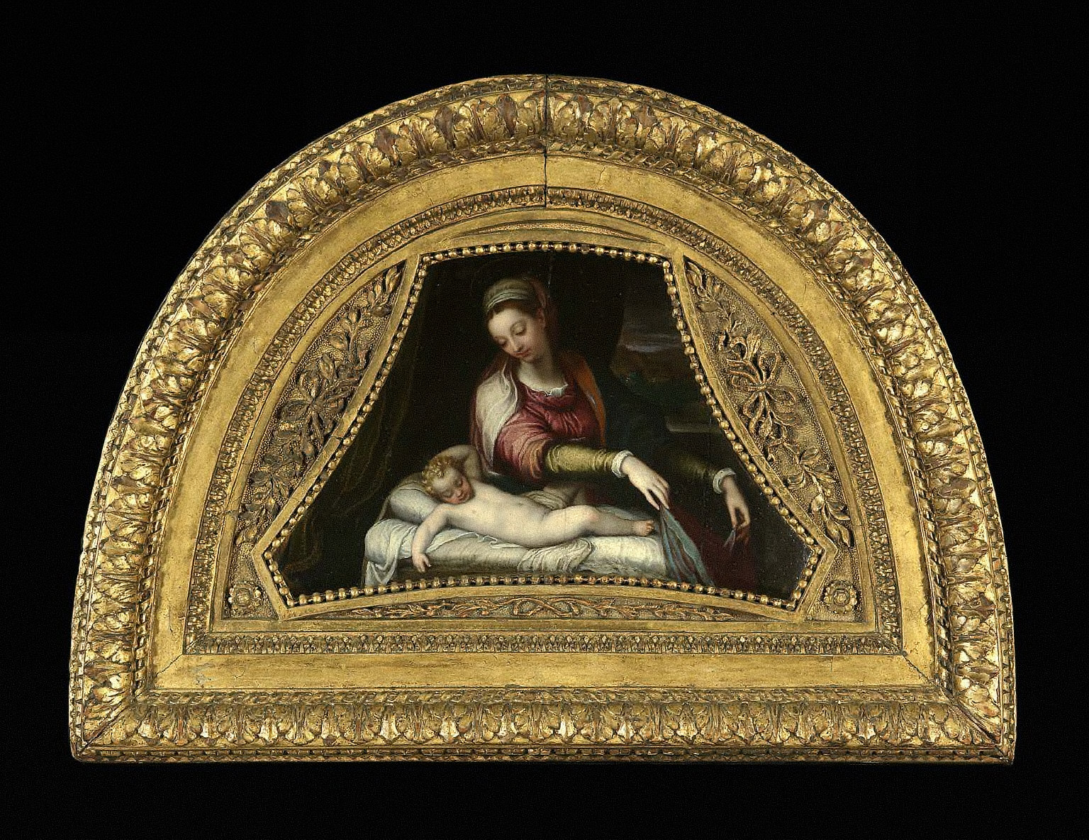Virgin Adoring the Sleeping Christ Child
